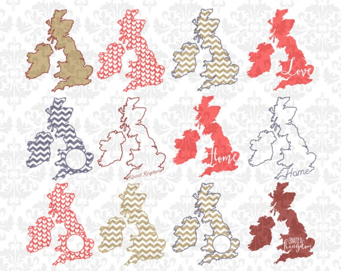 United Kingdom SVG STUDIO Ai EPS Scalable Vector Instant Download Commercial Use Cricut Silhouette Cutting File Cuttable Ireland England