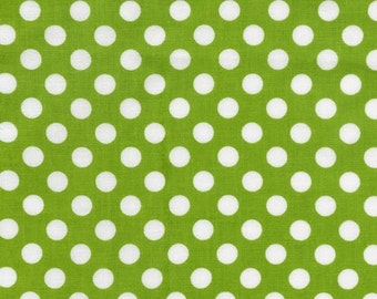 Robert Kaufman Spot On in lime, yard