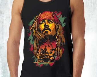 New Pirates Of The Caribbean Jack Sparrow Inspired Men's Tank Top Tanks Adult Sizes Demogorgon