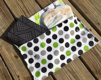 Diaper Clutch, Diaper Tote, Small Diaper Bag, Gender Neutral Diaper Clutch, Diaper Wallet, Nappy Clutch
