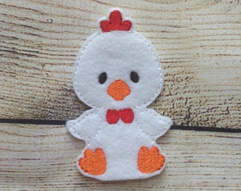 Chicken Finger Puppet,  Pretend Play, Imagination, Easter Basket, Road Trip, Kids, Quiet Time, Barnyard, Farm