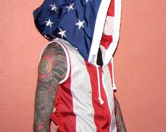 Windbreaker - american flag hoodie - american flag clothing - flag hoodie - mens clothing - american flag - windbreaker mens - men clothing