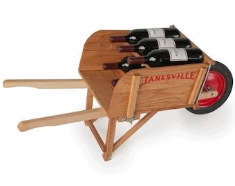 wheelbarrow wine rack