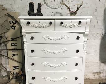 Painted Cottage Prairie Chic White Farmhouse Dresser