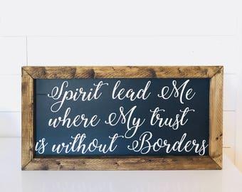 Spirit Lead Me 26x50