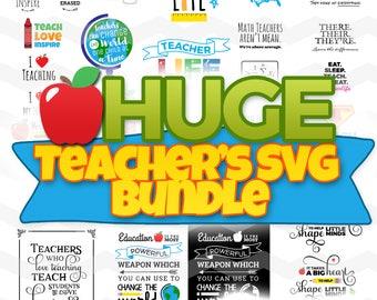 Teachers SVG: Teachers SVG bundle, School Teacher Svg Files, Teachers Back to School Svg, DXF, Silhouette Cameo, Cricut, Cut Files
