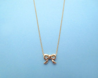 Cute, Ribbon, Bow, Gold, Silver, Necklace, Birthday, Best friends, Friendship, Sister, Graduation, Gift, Jewelry