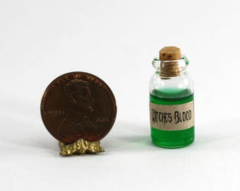 Glass Bottle of Green Wicked Witch's Blood