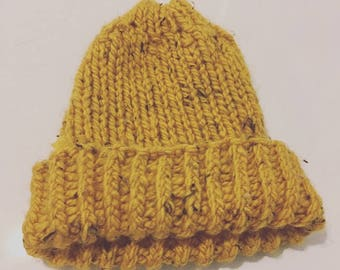 Yellow Knit Hat