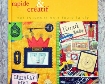 Book Scrapbooking patch - fast, easy and creative