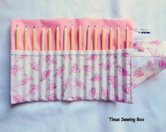 pencil roll with little ballet shoes