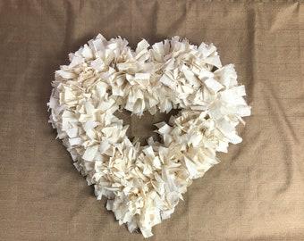 Farmhouse Heart Wreath (Price includes Shipping)