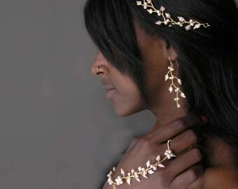 Wedding jewelry set, Wedding jewelry sets for brides, Bridal jewelry pearl. Bridal jewelry set.  White jewelry.