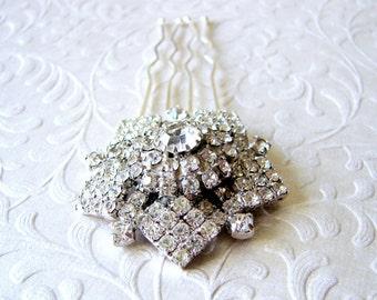 Pentagon Star Hairpiece Rhinestone Hair Comb Jeweled Wedding Headpiece Vintage Jewelry Ballroom Headdress Pageant Accessory Bohemian Chic