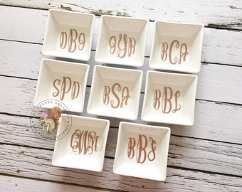 Monogram Jewelry Dish | Ring Dish