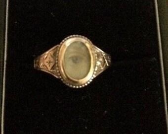 Antique Georgian Lovers Eye Ring