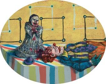 Baby's 1st Birthday! zombie painting acrylic paint