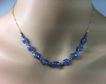 Tanzanite Necklace in Sterling Silver