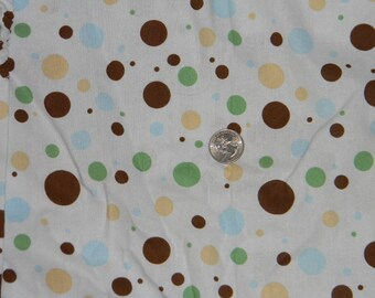 Light Blue Dotted Crib or Toddler Bed Fitted Sheet