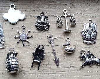 Monty Python Holy Grail Charm Set 23 Piece Tibetan Style Silver