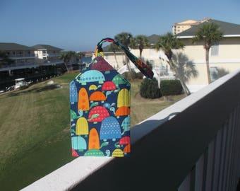 Turtle Family Luggage Tag
