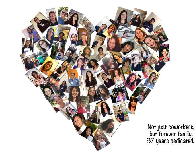 Custom Canvas Co Workers Gift Team Gift Mosaic Collage Picture Gift Wedding or Anniversary Wall Art 20x24