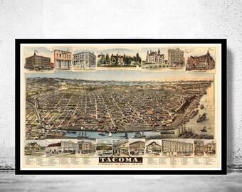 Tacoma Washington Panoramic View 1890