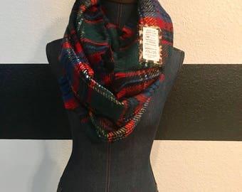 Plaid Infinity Scripture scarf