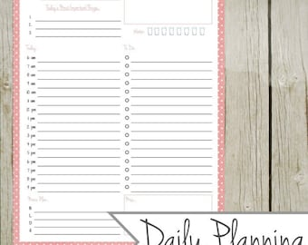 Daily Planning Page - Instant Download