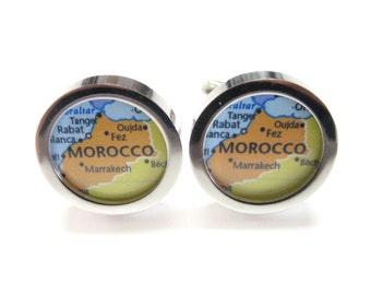 Morocco Map Pendant Cufflinks