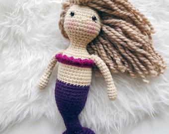 READY TO SHIP Crochet Mermaid Doll | Millennial Doll | Amigurumi | Little Mermaid | Modern Toy