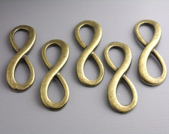 CHARM-AB-INFINITY2 - Antique Bronze Infinity Charm/Connector - 6 pcs