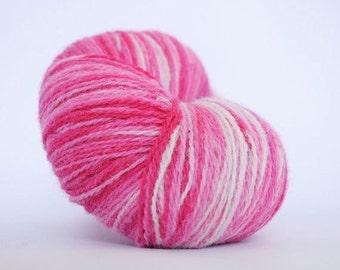Kauni Wool Yarn, Self-Striping, Pink White Gradient, 2ply EE