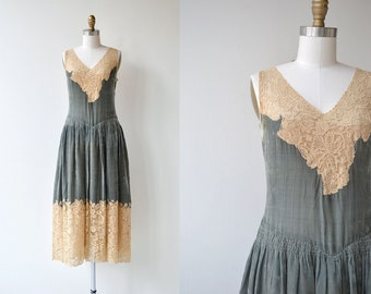 Hidden Lake dress | vintage 1920s dress | silk velvet 20s dress