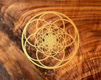 Fibonacci Seed of Life Vinyl Decal - Sacred Geometry Sticker Decal Vinyl Cutout by LaserTrees - Item Number LT50012