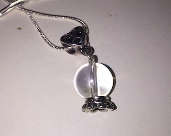 Crystal ball Charm Necklace