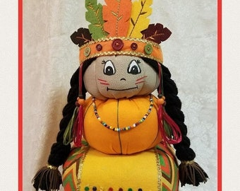 ON SALE 15% OFF Indian Pumpkin Stacker, Thanksgiving Centerpiece, Indian Centerpiece, Indian Decor, Thanksgiving Decor, Pumpkin Stacker, Fal