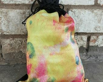Silk Tarot Deck Bag - Planner Carrying Bag - Silk Jewelry Pouch - Drawstring Bag - Abstract Handbag - Knitting Bag