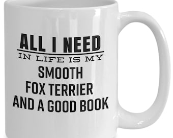 Smooth Fox Terrier Dog Gift Mug for Book Lovers