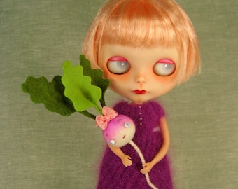 Happy Turnip Girl Anthropomorphic Toy for Dolls MADE TO ORDER