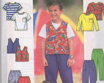 Pattern, Simplicity 7685, Child's Top Vest and Pants or Shorts, Size  AA (3,4,5,6), UNCUT Factory Fold, Sewing Pattern