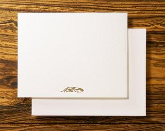 Feather Boho - Letterpress Stationery Note