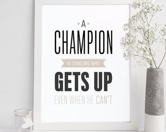 Motivational Wall Art - Typographic Print - Office Decor - Inspirational Wall Art - Home Decor - Office Art - Prints and Posters - Quote
