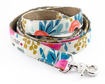 Les Fleurs Rosa Natural Dog Leash - Rifle Paper Co.