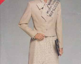 CLEARANCE Easy Dress Pattern With Jacket Bow  Misses 14 - 16 - 18 Uncut See & Sew 5268