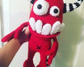 Crochet Toothy Monster Doll