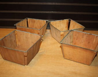 Vintage Berry Containers - set of 4 - item 2847-1
