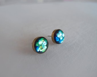 Sparkly Round Stud Earrings - Hypoallergenic Surgical Steel Posts