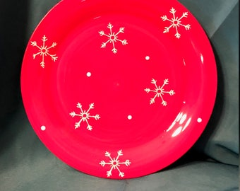 Holiday Snowflakes By Jay Dinner Plate