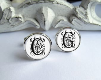 Custom Cuffinks, Monogram Cufflinks, Wedding Cufflinks, Personalized Cufflinks